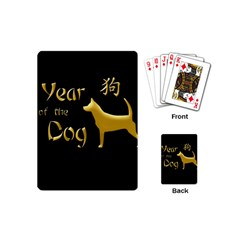 Year Of The Dog   Chinese New Year Playing Cards (mini)  by Valentinaart