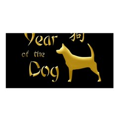 Year Of The Dog   Chinese New Year Satin Shawl by Valentinaart