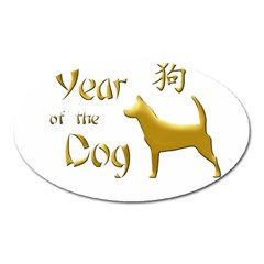 Year Of The Dog   Chinese New Year Oval Magnet by Valentinaart