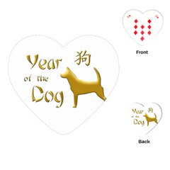 Year Of The Dog   Chinese New Year Playing Cards (heart)  by Valentinaart