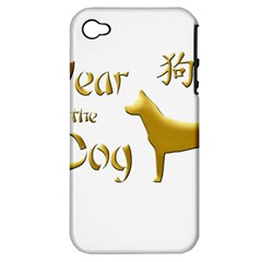 Year Of The Dog   Chinese New Year Apple Iphone 4/4s Hardshell Case (pc+silicone) by Valentinaart