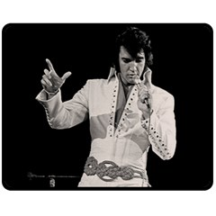 Elvis Presley Double Sided Fleece Blanket (medium)  by Valentinaart