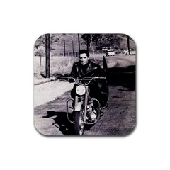 Elvis Presley Rubber Square Coaster (4 Pack)  by Valentinaart
