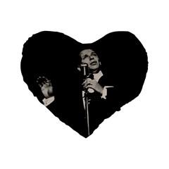 Frank Sinatra  Standard 16  Premium Flano Heart Shape Cushions by Valentinaart