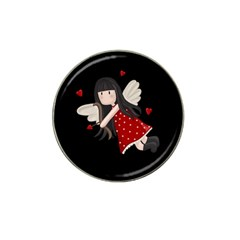 Cupid Girl Hat Clip Ball Marker by Valentinaart