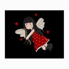 Cupid Girl Small Glasses Cloth (2 Side) by Valentinaart