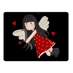 Cupid Girl Fleece Blanket (small) by Valentinaart