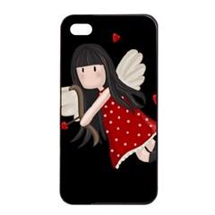 Cupid Girl Apple Iphone 4/4s Seamless Case (black) by Valentinaart