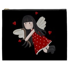 Cupid Girl Cosmetic Bag (xxxl)  by Valentinaart