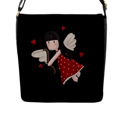 Cupid Girl Flap Messenger Bag (l)  by Valentinaart