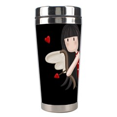 Cupid Girl Stainless Steel Travel Tumblers by Valentinaart