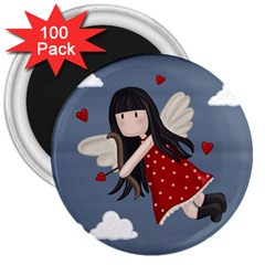 Cupid Girl 3  Magnets (100 Pack) by Valentinaart