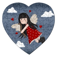 Cupid Girl Jigsaw Puzzle (heart) by Valentinaart