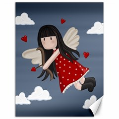 Cupid Girl Canvas 12  X 16   by Valentinaart