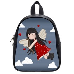 Cupid Girl School Bag (small) by Valentinaart