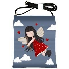 Cupid Girl Shoulder Sling Bags by Valentinaart