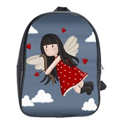 Cupid Girl School Bag (xl) by Valentinaart
