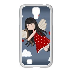 Cupid Girl Samsung Galaxy S4 I9500/ I9505 Case (white) by Valentinaart