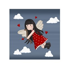 Cupid Girl Small Satin Scarf (square) by Valentinaart