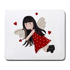 Cupid Girl Large Mousepads by Valentinaart