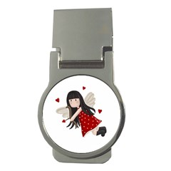 Cupid Girl Money Clips (round)  by Valentinaart