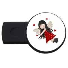 Cupid Girl Usb Flash Drive Round (2 Gb) by Valentinaart