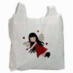 Cupid Girl Recycle Bag (one Side) by Valentinaart