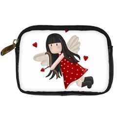 Cupid Girl Digital Camera Cases by Valentinaart
