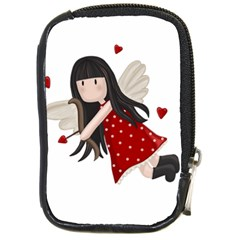 Cupid Girl Compact Camera Cases by Valentinaart