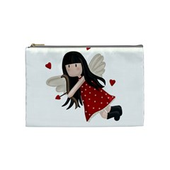 Cupid Girl Cosmetic Bag (medium)  by Valentinaart