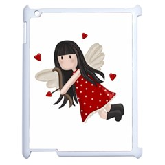 Cupid Girl Apple Ipad 2 Case (white) by Valentinaart