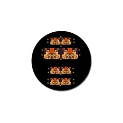 Geisha With Friends In Lotus Garden Having A Calm Evening Golf Ball Marker (10 Pack) by pepitasart