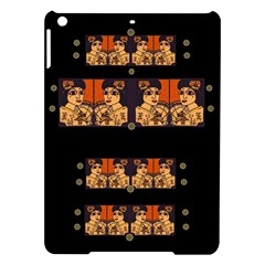 Geisha With Friends In Lotus Garden Having A Calm Evening Ipad Air Hardshell Cases