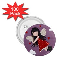Cupid Girl 1 75  Buttons (100 Pack)  by Valentinaart
