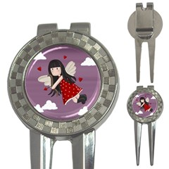 Cupid Girl 3 In 1 Golf Divots by Valentinaart