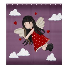 Cupid Girl Shower Curtain 66  X 72  (large)  by Valentinaart