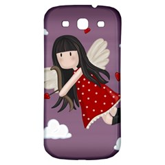 Cupid Girl Samsung Galaxy S3 S Iii Classic Hardshell Back Case by Valentinaart