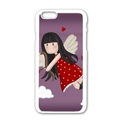 Cupid Girl Apple Iphone 6/6s White Enamel Case by Valentinaart