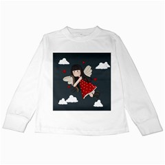 Cupid Girl Kids Long Sleeve T Shirts