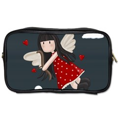Cupid Girl Toiletries Bags by Valentinaart