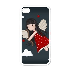 Cupid Girl Apple Iphone 4 Case (white) by Valentinaart