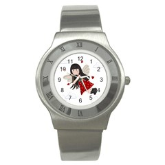 Cupid Girl Stainless Steel Watch by Valentinaart