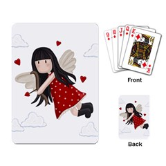 Cupid Girl Playing Card by Valentinaart