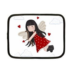 Cupid Girl Netbook Case (small)  by Valentinaart