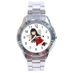 Cupid Girl Stainless Steel Analogue Watch by Valentinaart
