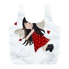 Cupid Girl Full Print Recycle Bags (l)  by Valentinaart