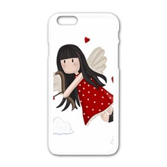 Cupid Girl Apple Iphone 6/6s White Enamel Case by Valentinaart