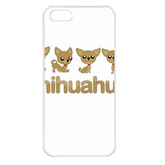 Chihuahua Apple Iphone 5 Seamless Case (white) by Valentinaart