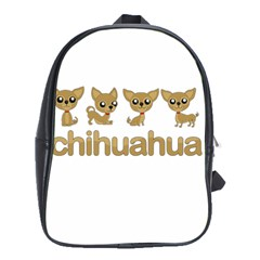 Chihuahua School Bag (xl) by Valentinaart