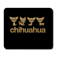 Chihuahua Large Mousepads by Valentinaart